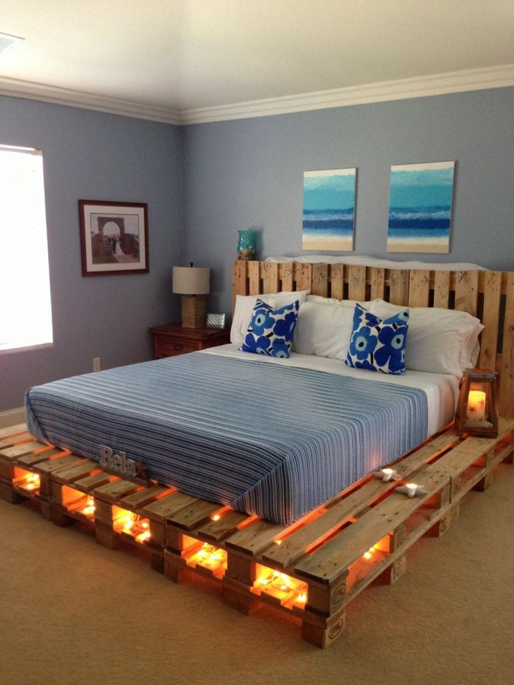 Japanese Inspired Low Bed Frame Pallet Project Decoration Ideas