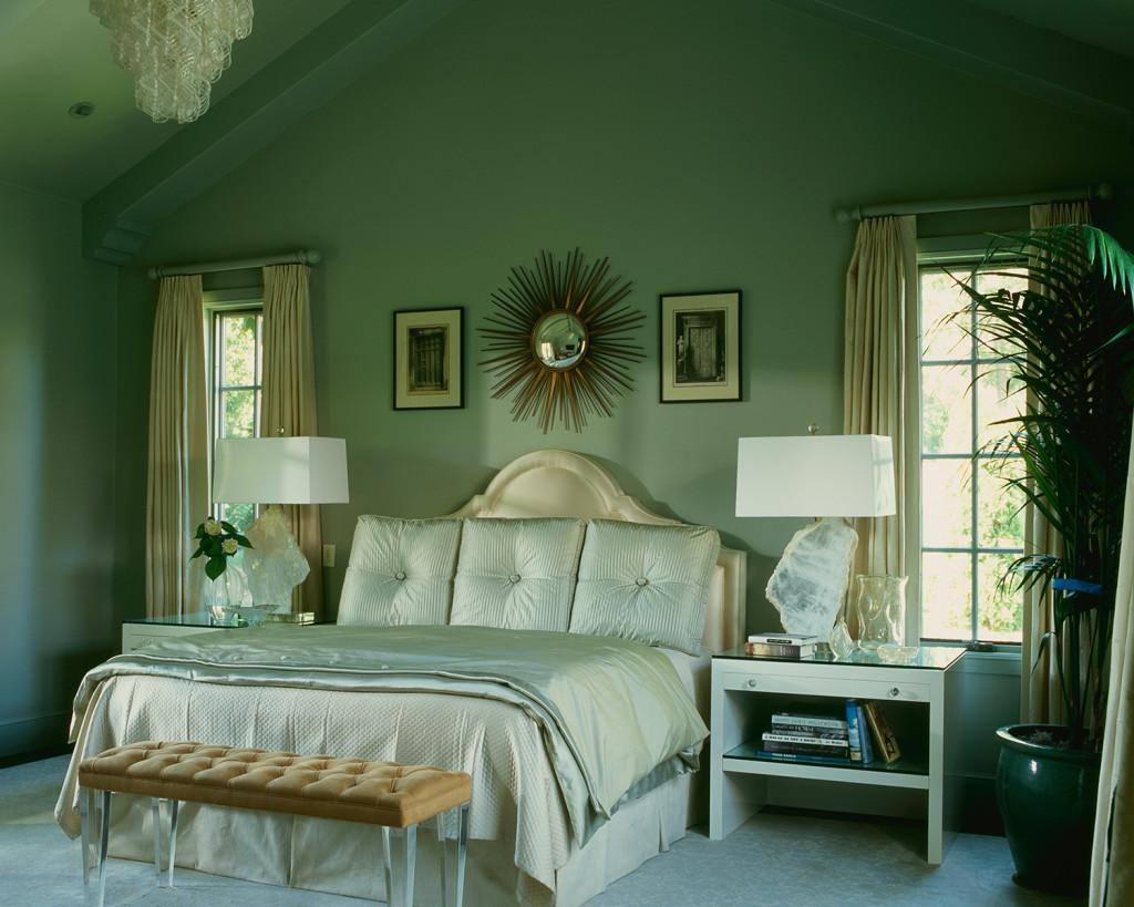 Minty Bedroom Elegance