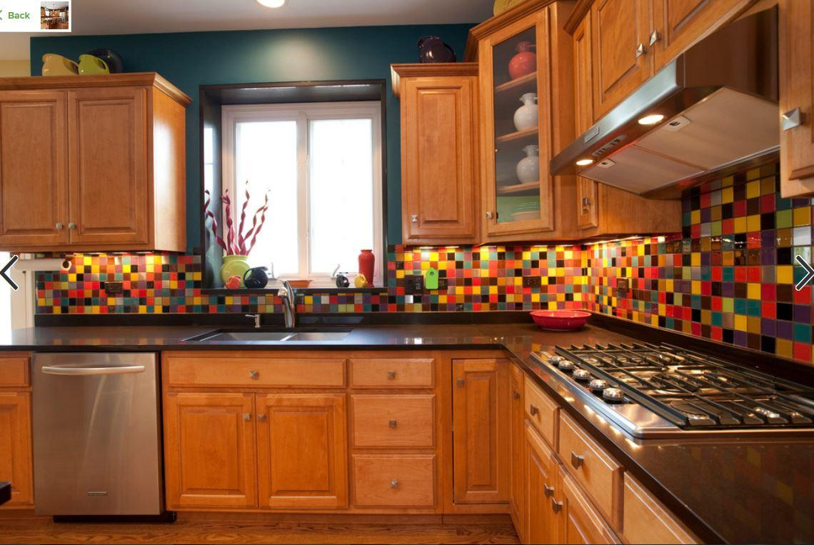 Multicolored Kitchen Backsplash
