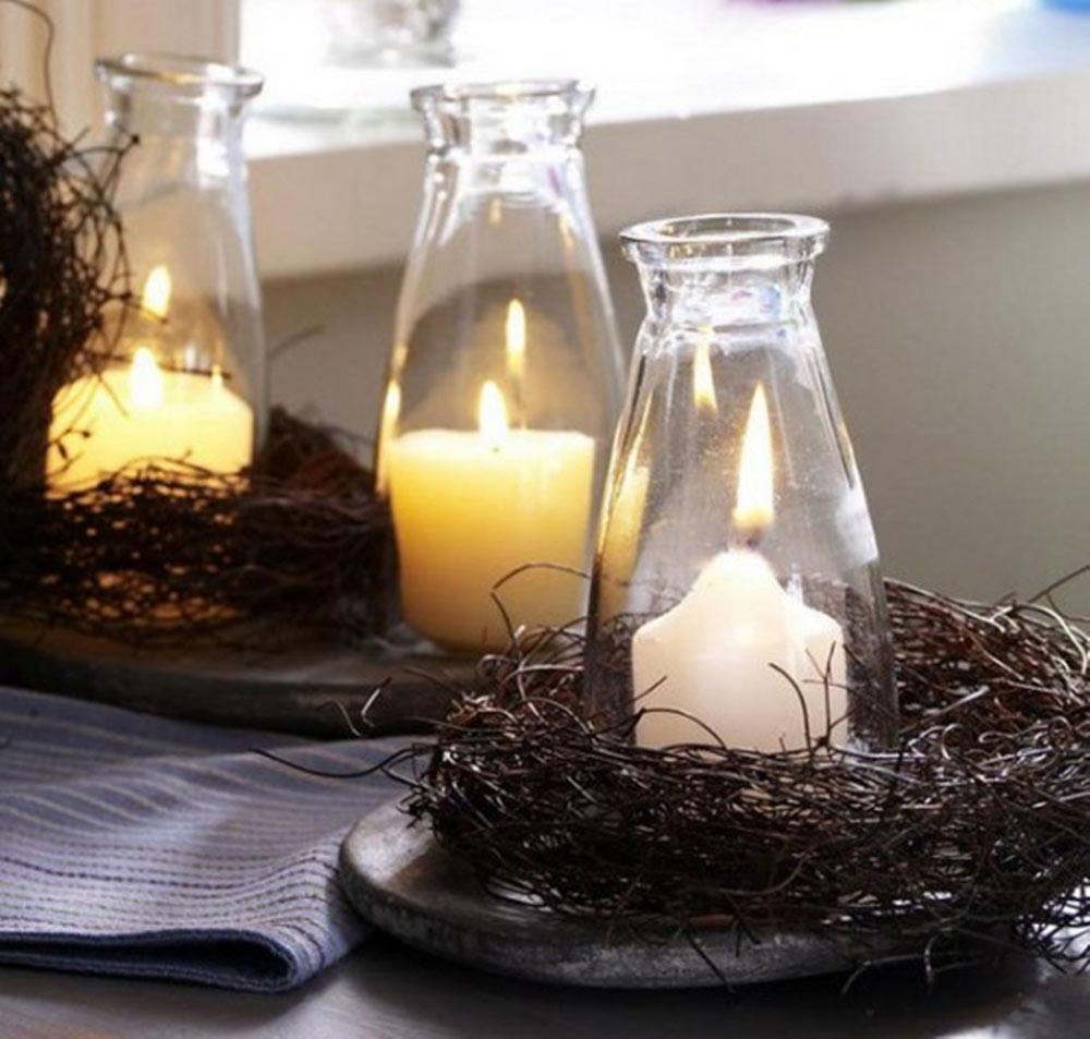 Natural Fall Candle Decor with a Scandinavian Flair