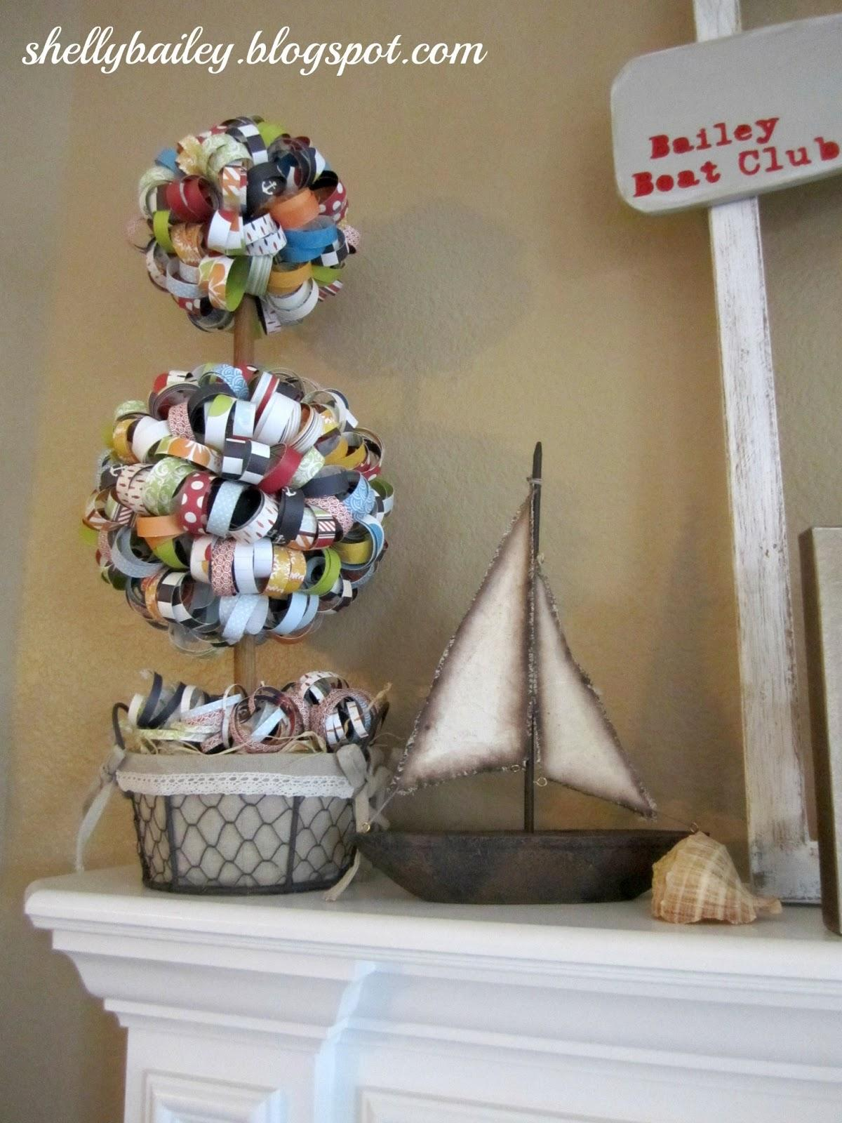 Nautical themed mantel summer room ideas