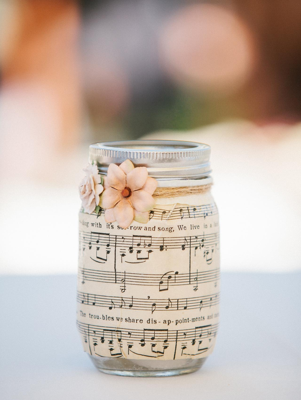 Note this Mache-Pressed Mason Jar