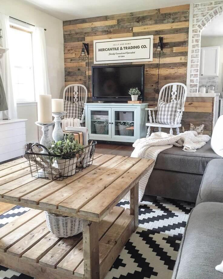 Recycled Rustic Barnwood Accent Wall