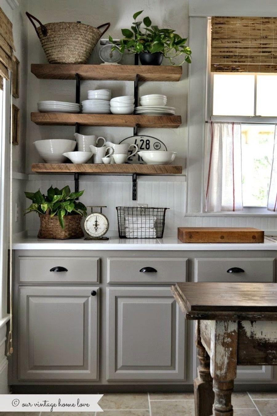 Rustic Country Kitchen Decorations Distinguish a Unified Design