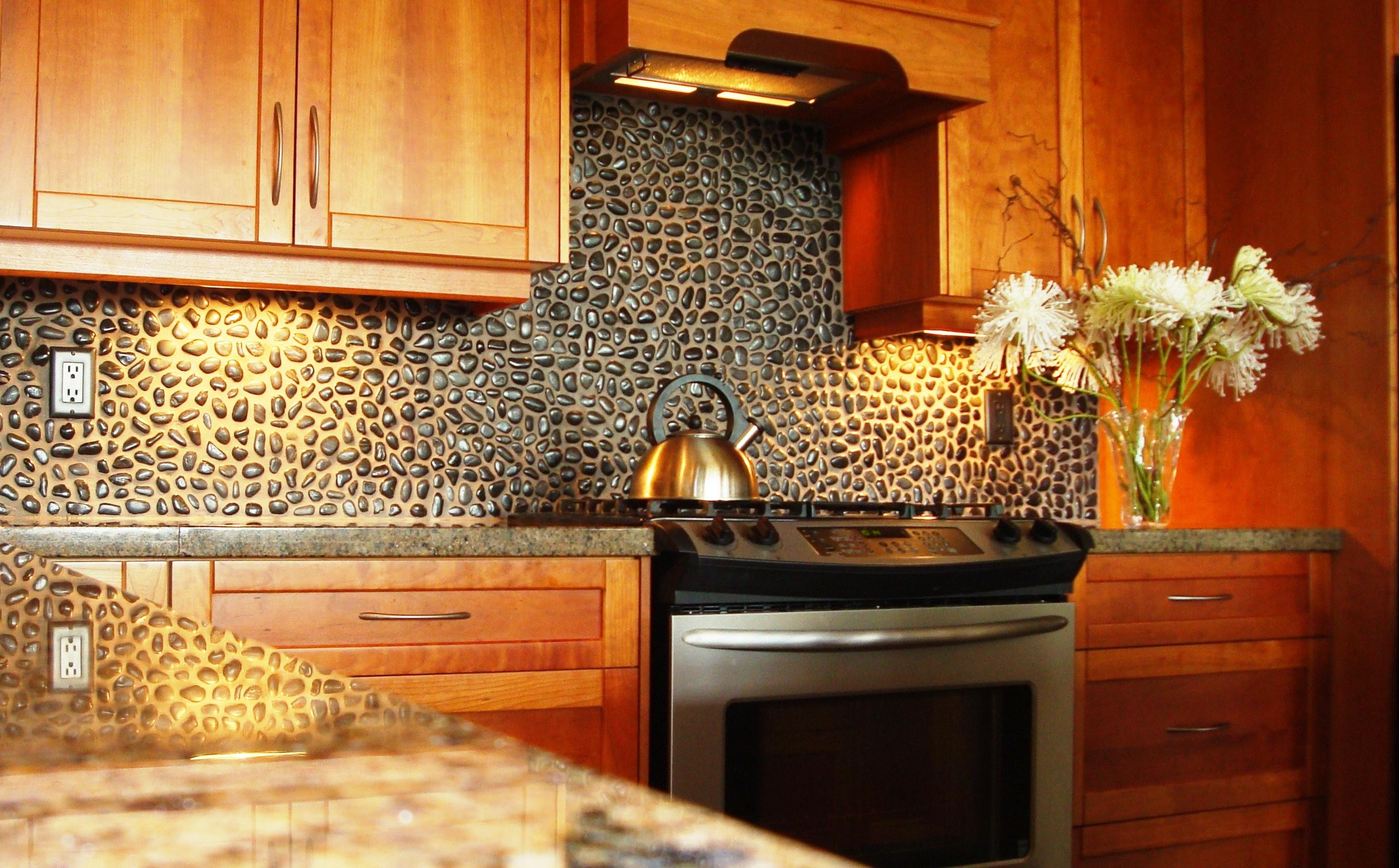 Small Stone Backsplash