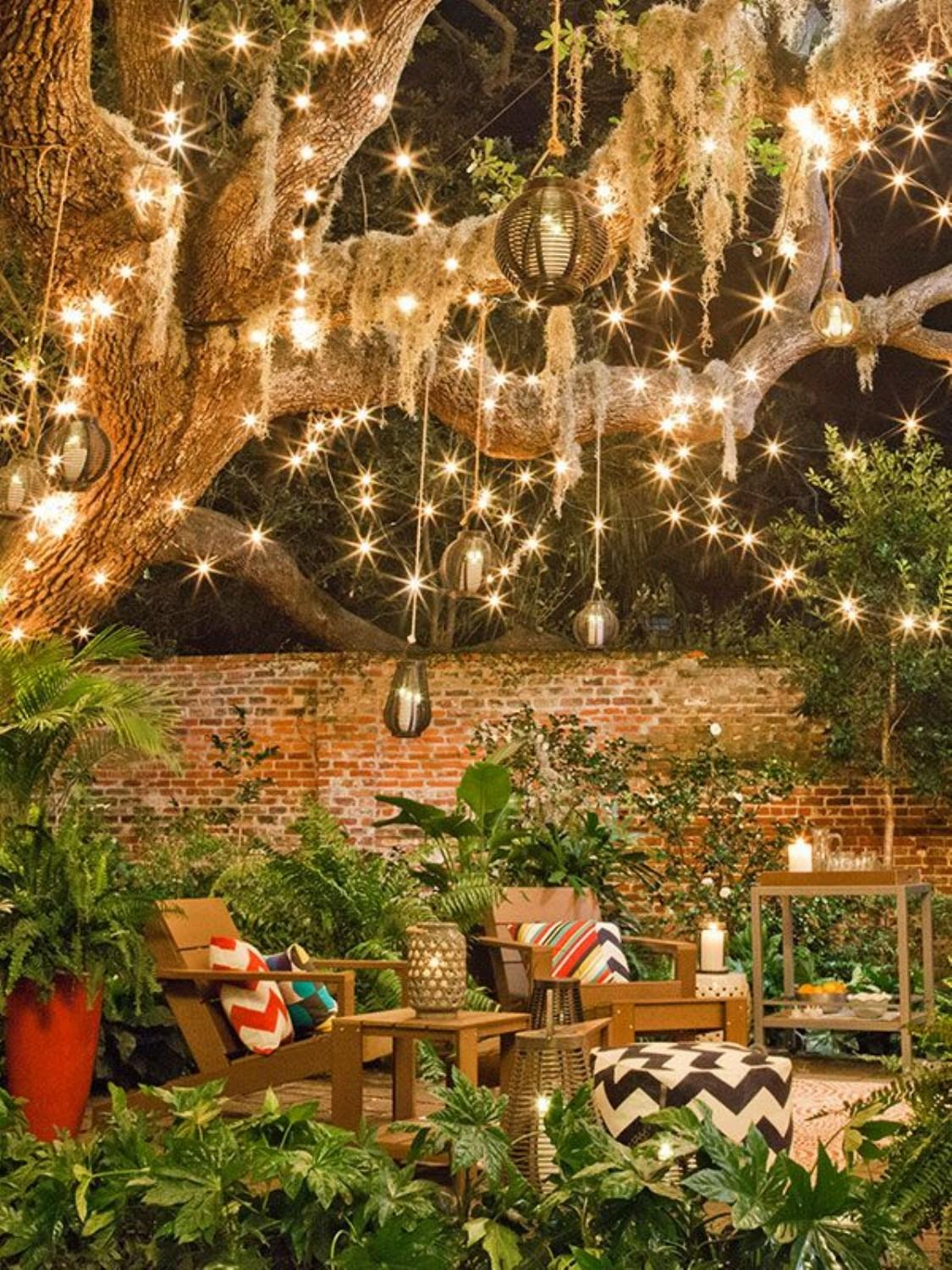 Sparkling Fairy Lights and Lounge Chairs