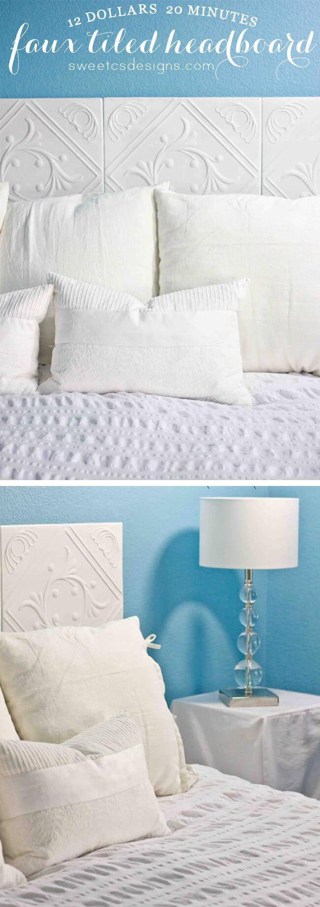 Tiled for Style Headboard Idea