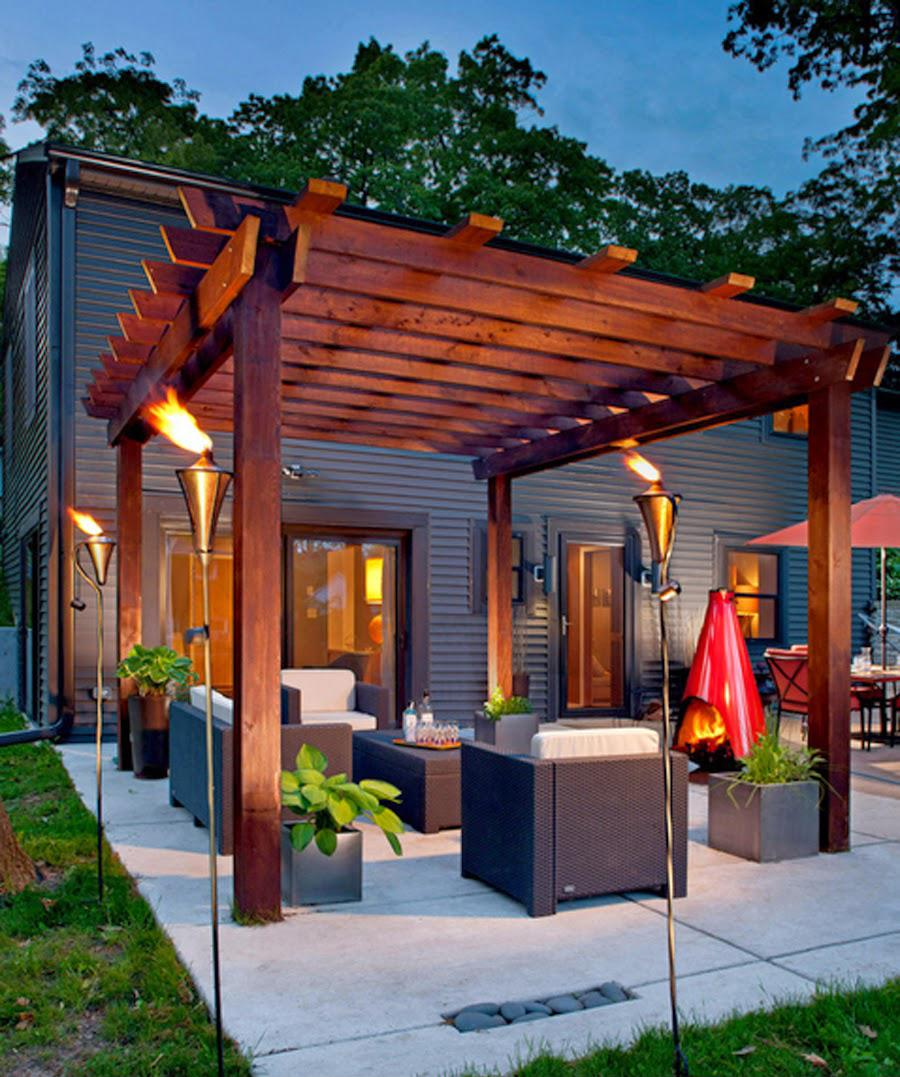 Turn Up The Heat With A Glowing Pergola