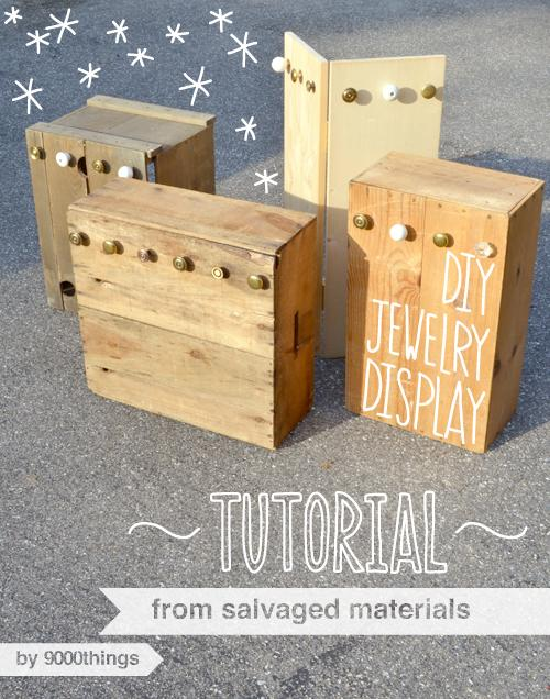 Unique Upcycles: Wood Crate Jewelry Displays