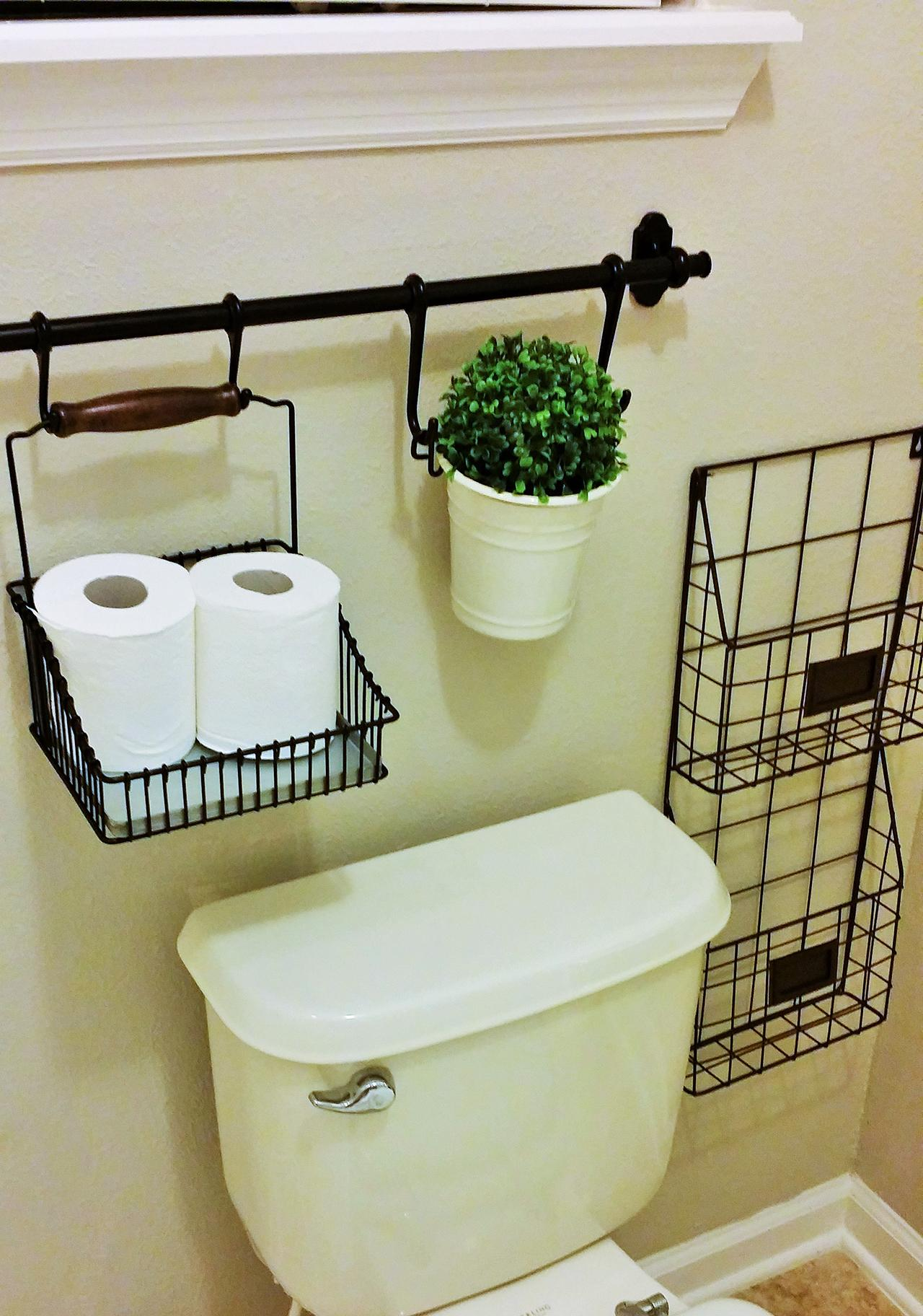 Wall-mounted Wire Storage Baskets